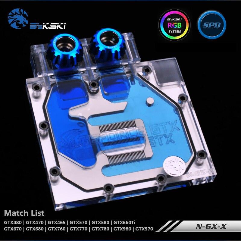 Bykski GTX980 970 780 770 680 670 660TI 580 570 480 470 465 Carte Graphique Bloc De L'eau Demi-Couverture N-GX-X