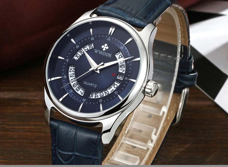 New Quartz Mens Watches Top Brand Luxury Complete Calendar Men\'s Wrist Watch Genuine Leather Strap Men Wristwatches  2019 (8)