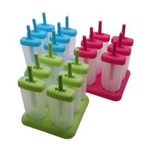 6/набор соединенная форма для мороженого самодельный Лед Куб поднос для мороженого дома кухонные принадлежности плесень плюс Воронка Формочки Для Мороженного «фруктовый лед»