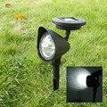 2 unidades/pacote LEVOU Caminho de Luz Solar Do Gramado Ao Ar Livre Pico Holofotes Movido A Energia Solar Do Jardim Da Paisagem À Prova D' Água