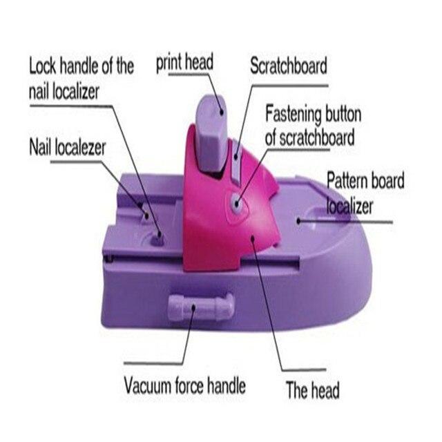 professionelle nagel stempelmaschine nagel drucker stanzwerkzeug schnheitssalon ausrstung fr nagel mit 6 muster paletten - Muster Fur Nagel