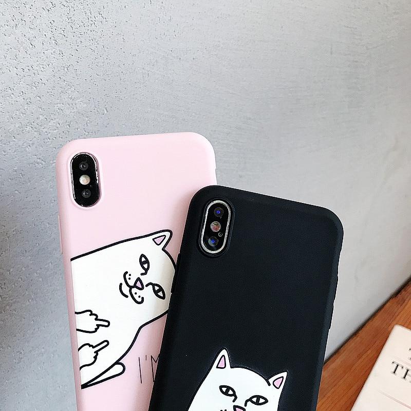 Cute Cat Silicone Cover For Xiaomi Mi 5 5S 5X 6 6X 8 Lite 9 SE 9T Pro A1 A2 A3 Lite Play Case Funny Coque Capa