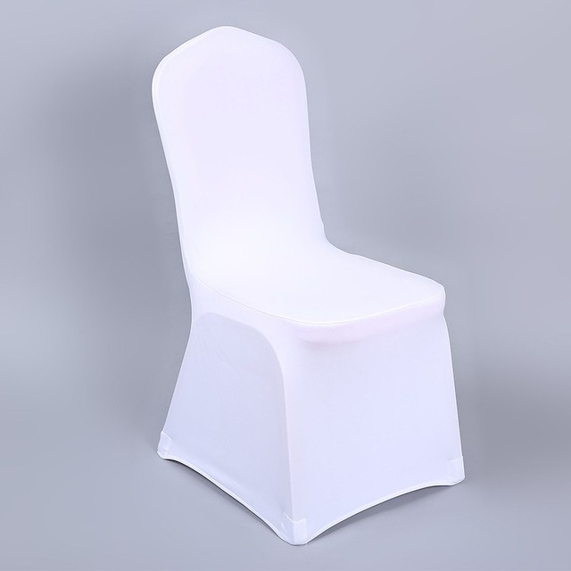 Party Cover White Chair Wedding Universal Polyester Stretch 1piece HD2I9WE