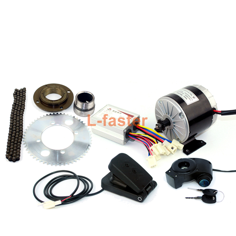 24V36V 350W Motor Kit Electric Gokart Engine System With Gas Pedal Electric Child Bike Conversion Kit