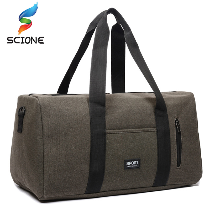 Hot Outdoor Top Canvas Sport Training Gym Bags Men Woman Fitness Bag Durable Multifunction Travel Handbag Sporting Tote For Male fashion male top handle bag solid color canvas bags blue men s handbag brown tote bag for man and boy multifunction handbags
