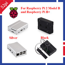 Premium Aluminum Alloy Metal Case for Raspberry Pi 2 Model B and Raspberry Pi B+