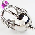 Sex Product Male Craft Chastity Device cock cage With Urethral Sound Lock Fetish 5 Size Ring To Chose Chastity Belt