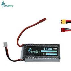 High Rate 7.4V 1500mAh Lipo Battery For RC Halicopter Parts 2s Lithium battery 7.4 v 25C Airplanes battery with JST/T/XT60 Plug