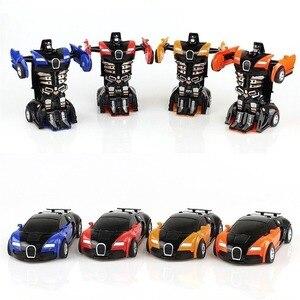 Image 5 - Transformatie Robot Speelgoed Auto Anime Action Figure Speelgoed ABS Plastic Botsing Transforming Model Cadeau voor Kinderen