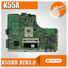 Original for ASUS K55A Motherboard K55VD Rev 3.0 Mainboard HD Graphics 4000  HM76 Chipset 100% Tested