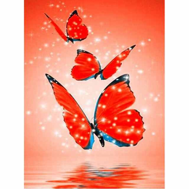 new DIY Diamond Painting Butterfly Full Square/Round Drill Decoration Home 5D Mosaic  Embroidery Animals Z250