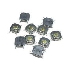 100 шт. 4*4*1,5 мгновенного типа Тактильный кнопочный переключатель 4 штырька поверхностный монтаж SMD 5x5x1,5 мм 4x4x1,5 водонепроницаемый