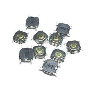Image 1 - 100 шт. 4*4*1,5 мгновенного типа Тактильный кнопочный переключатель 4 штырька поверхностный монтаж SMD 5x5x1,5 мм 4x4x1,5 водонепроницаемый