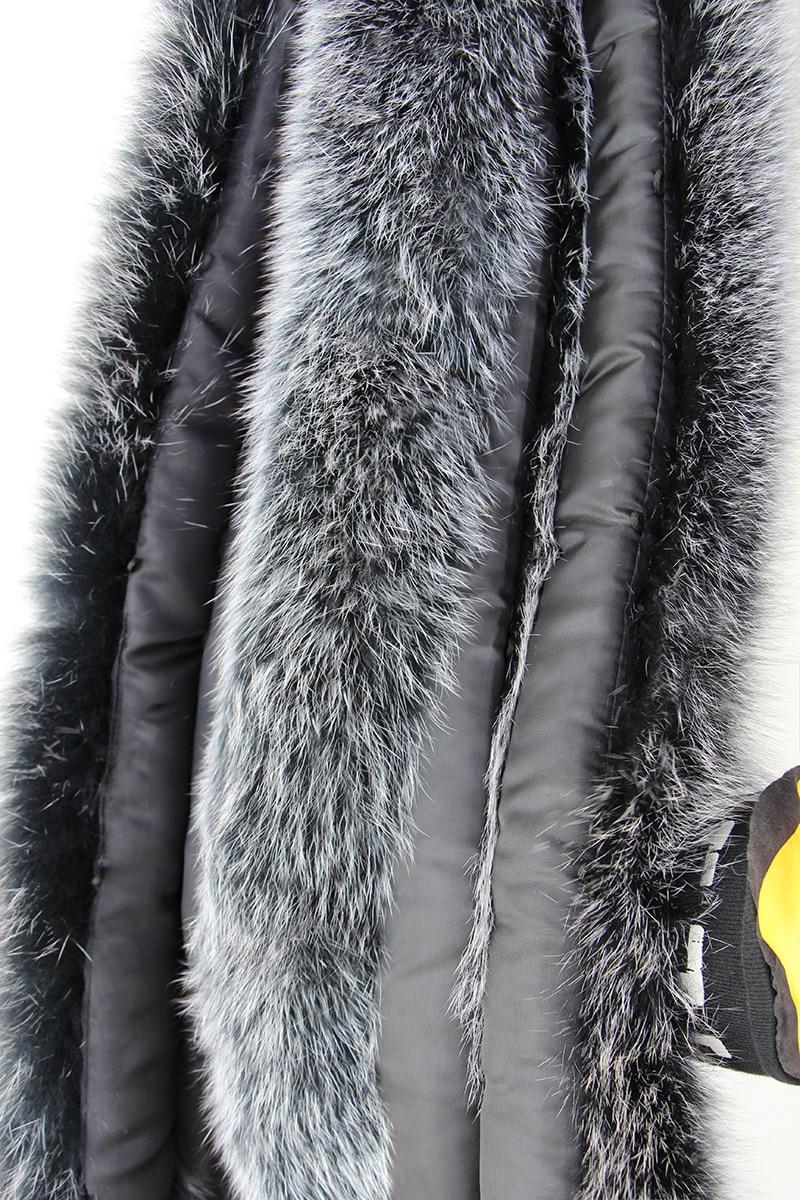 100% natürliche echte Fuchspelzkragen Frauen Schal Wintermantel Neck - Bekleidungszubehör - Foto 5