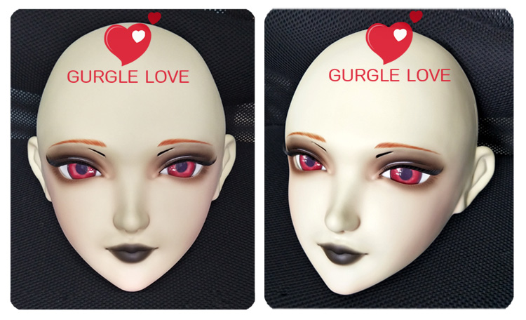 gl058 Flight Tracker Sweet Girl Resin Half Head Bjd Kigurumi Mask With Eyes Cosplay Anime Role Lolita Mask Crossdress Doll Comfortable And Easy To Wear