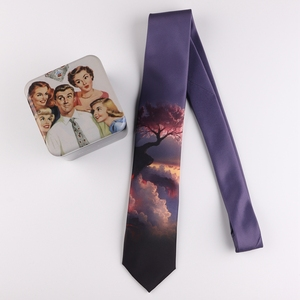 Image 2 - Tie 7CM printing tie male and female students literary trend casual personality gift tie