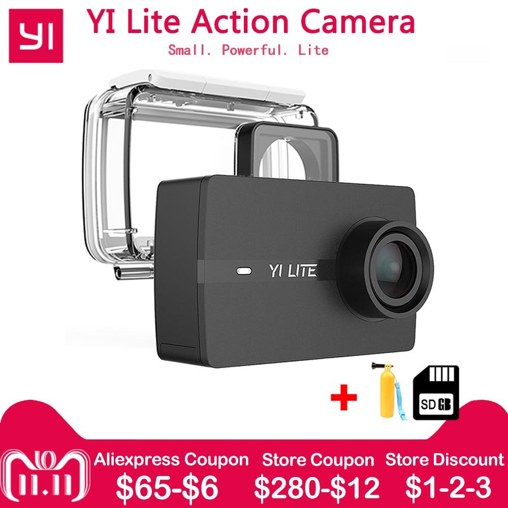 XIAOMI YI Lite D'action Caméra 1080 p Réel 4 k Sport Support de Caméra WiFi Bluetooth 2 LCD Tactile Écran 150 Degrés Objectif Grand Angle