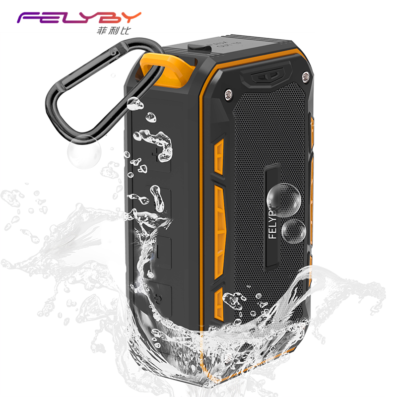 FELYBY Professional S618 Mini Portable Outdoor Wireless Bluetooth Stereo Speaker 3 color Waterproof for Sport and Phone Computer