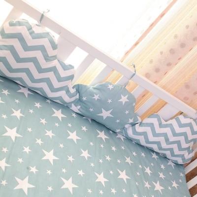 120x30 Cm Wolken Form Baby Bettwäsche Stoßstange Atmungs Krippe Liner Baumwolle Vorhang Krippe Stoßfänger Babybett Sets Baby Bett Protector VerrüCkter Preis