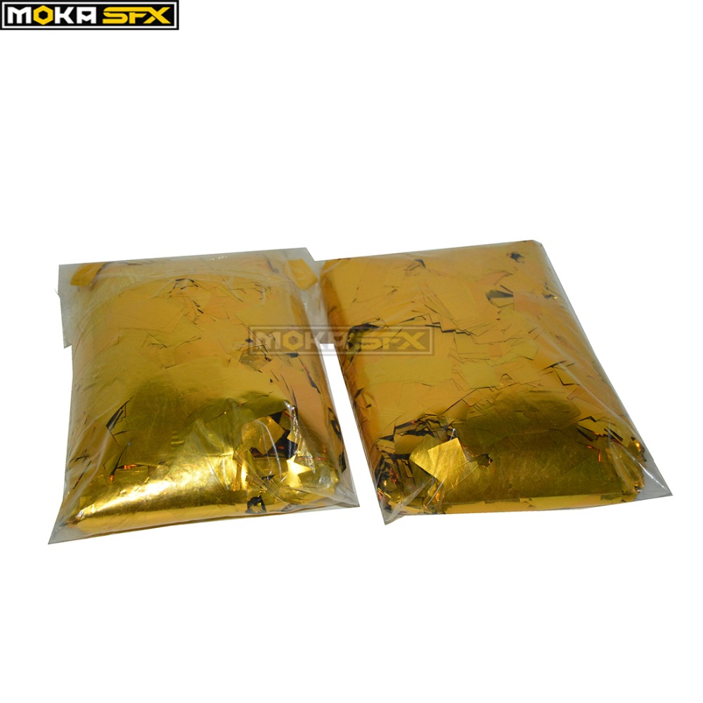 10kg lot Low Price Hi Quality gold color Confetti Paper Tissue Decoration for stage Special Effects