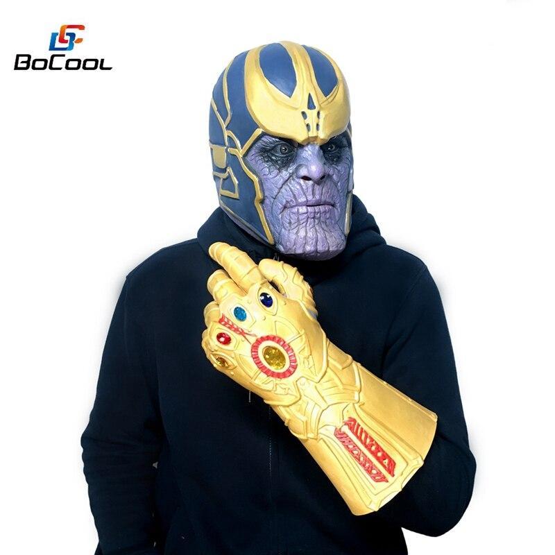 Thanos Infinity Guanti Guanto di Sfida e Maschera Avengers Infinity Guerra Cosplay di Supereroi Vendicatori Thanos Guanto Maschera di Halloween Puntelli Del Partito