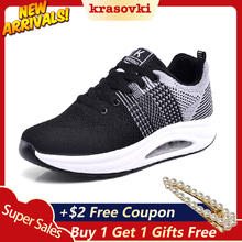 Krasovki Sneakers Women Casual Shoes Breathable Comfortable For Women Walking Female Fashion Shoes merrto women waterproof walking shoes sneakers winter breathable walking shoes for women with inner fleece high quality boost