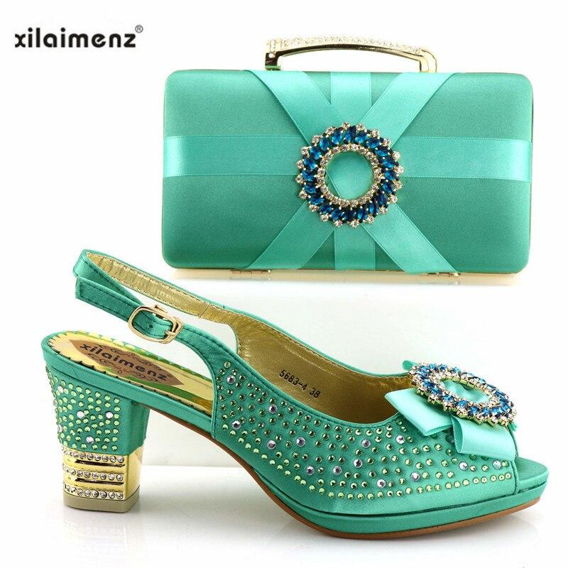 Chaussures Avec gold Assorti Couleur Italiennes Blue Royal Fuchsia purple Haute green Ensemble Correspondant Vente Talon Sac Et Africaine fuchsia Dames Meilleur red SBwEwz