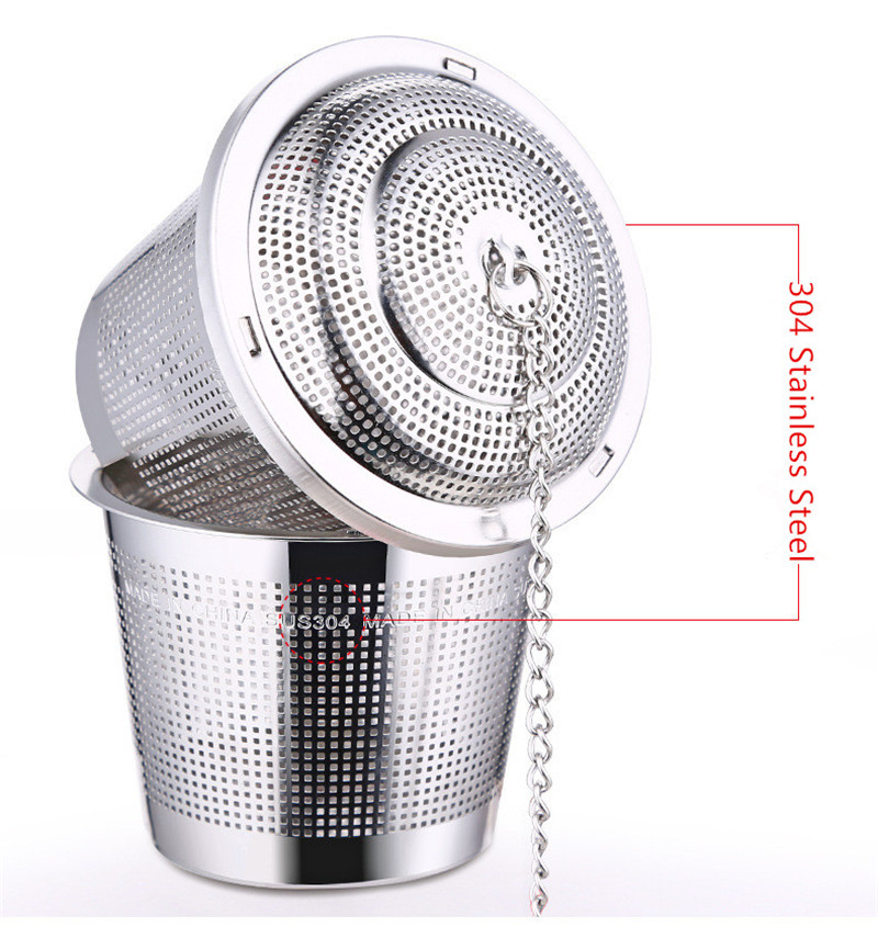 Tea Ball Infuser Cooking Infuser Fine Mesh Tea Infuser Kitchen Stainless Steel with Extended Chain Hook