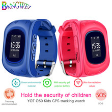 2018 BANGWEI GPS Tracker Kids Smart Watch for Children Safety SOS Call Location Finder with SIM card Slot for iOS and Android(China)