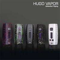Оригинальный Hugo Vapor Boxin DNA75 75 Вт коробка Mod комплект электронной сигареты создано Двойной 18650 батареи электронных сигарет vape испаритель TC