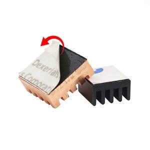 Image 5 - Raspberry Pi 3 Model B + Plus Heat Sink 1 Aluminum + 2 Copper with Logo Cooling Pad disipador Heatsink for Raspberry Pi 3 B+/3