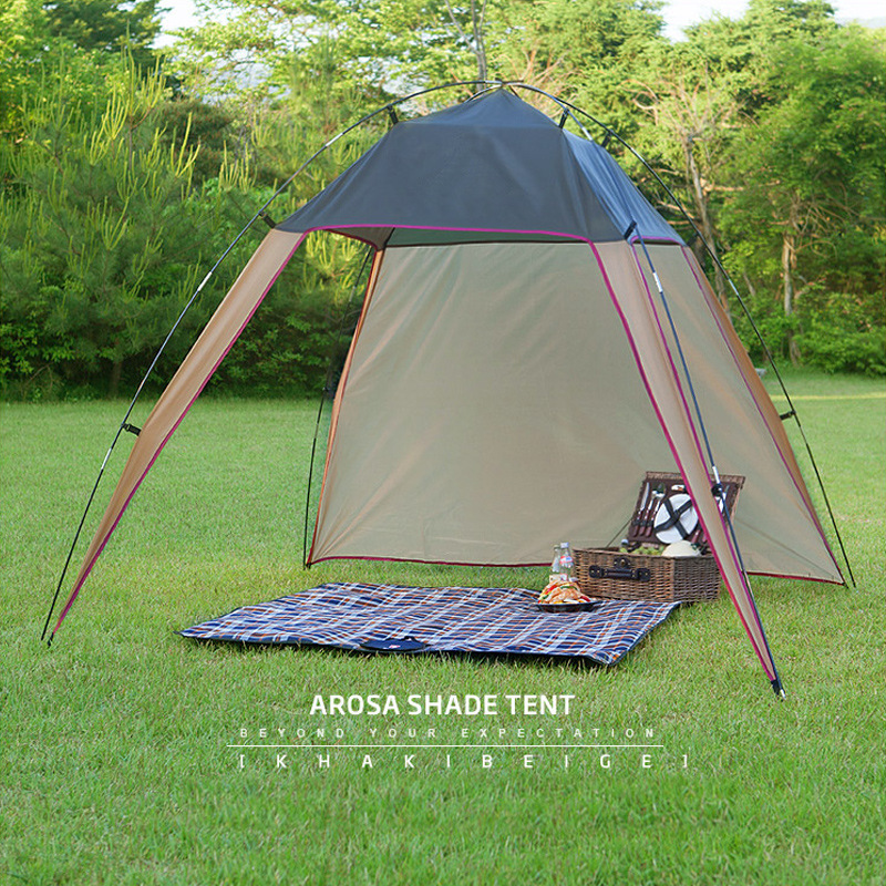 Outdoor Ultralight Tent Wind Wall Camping Big Awning Automatic Camping Beach Tent Anti UV Awning Tents Outdoor Sunshelter 5 5m camouflage net camping beach tents 150d polyester oxford ultralight sun uv camouflage net outdoor camping beach tents
