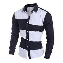 Free shipping+tracking code Men's shirt male social shirt dress menswear tommy Mens Patchwork Shirts Casual Slim Man 13M0532