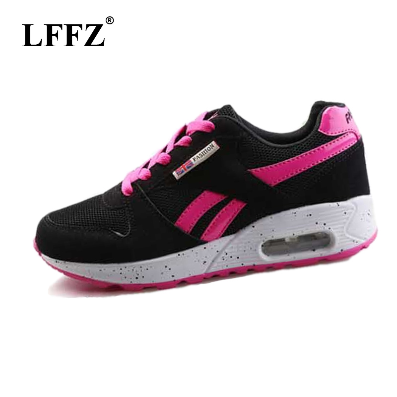 LFFZ 2018 New Arrived Spring <font><b>Women</b></font> Comfortable Shoes For Woman Flat Heels air Cushion Sneakers Students Platform Flats JH139 image