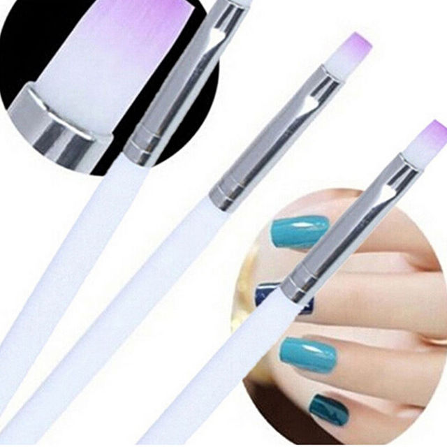2 PCS DIY Acrylic Nail Art Pen Design 3D Painting Polish UV Gel ...