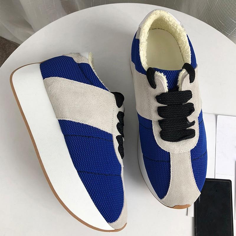 Moda púrpura Las Mixto azul multiple Zapatos Mujeres Chic 2019 Fondo De Deporte Color Transpirable Mujer Zapatillas Grueso Negro blanco Plataforma Casuales nxgpHqwv