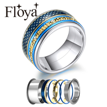 Floya Stacking Rings Women Interchangeable Stainless Steel Rings Fashi