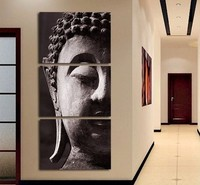 3 Panel Wall Art Religion Buddha Oil Painting On Canvas No Framed Room Panels For Home Modern Decoration Art Picture no Framed