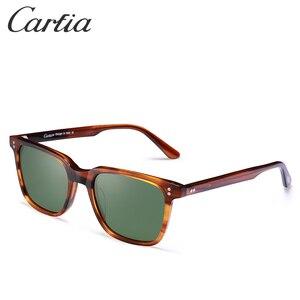 Image 3 - Carfia marka projektant HD spolaryzowane zabytkowe okulary męskie kwadratowe okulary jazdy moda Retro okulary 100% ochrona UV