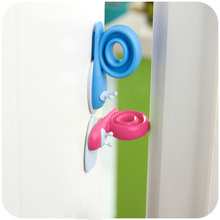 Plastic Baby Safety Gate Door Clip Windproof Rotatable Kids Room Snails Doorstop Infant Cute Safety Protector Doorway