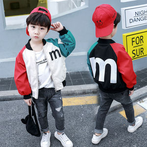INS hot Baby boys Outdoor Jackets 0-9 year old Korean autumn winter jacket boys trench Contrast stitching letter raglan sleeves(China)