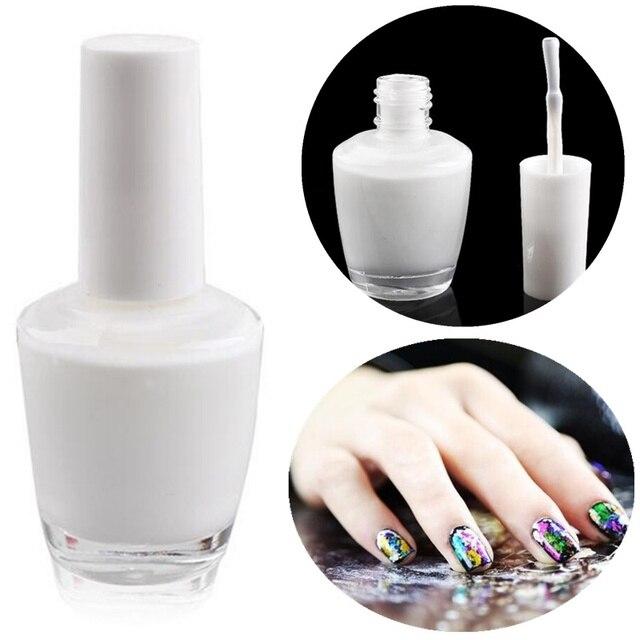 Diy Nails 15ml Nail Art White Star Glue Foils Transfer 3d Tips