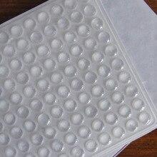 100 шт самоклеющиеся Резиновые ножки прозрачные полукруглые бамперы дверные буферные прокладки-подушечки- WWO66
