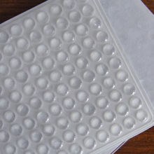 100PCS Self Adhesive Rubber Feet Clear Semicircle Bumpers Door Buffer Pad Gaskets--  WWO66