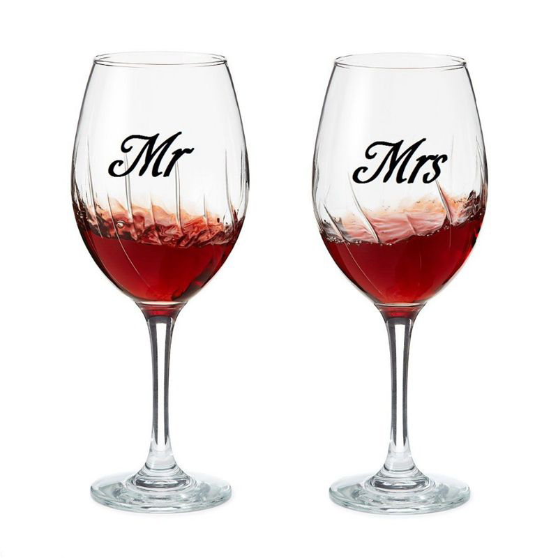Mr Amp Mrs Wine Glass Jar Wedding Decal Stickers Wedding
