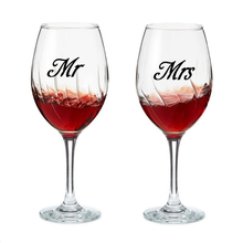 Mr & Mrs Wine glass jar wedding Decal Stickers , wedding gift sticker engagement party present love of 3 pairs