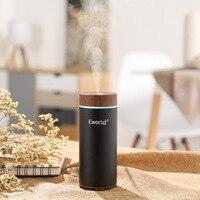 Eworld Air Humidifier Car Steam Humidifier USB Portable Mini Essential Oil Diffuser Aroma Fresh Ozone Air
