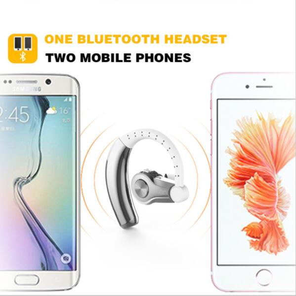 Original T9 HD Bluetooth4.1 stereo Wireless in Ear Headset For Music Sport ear hook Headphone For Safe Driving Earbuds 8 Hours