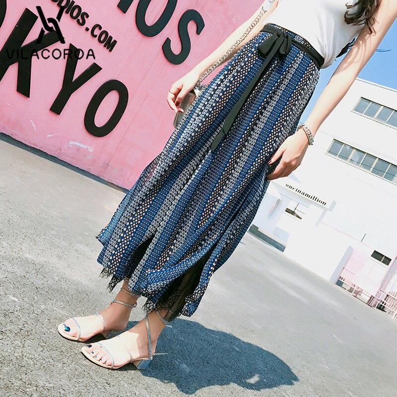 Chiffon Wide Leg Pants Women Summer Beach High Waist Trousers Chic Streetwear Sash Casual Pants Capris Female