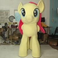 Ohlees rzeczywisty obraz Maskotka Kostiumy Applejack my little pony Pinkie Pie konia Dorosłych Halloween Cartoon Character Outfit Party